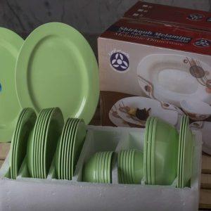 سرویس 6 نفره 35 پارچه گرد رنگ سبز